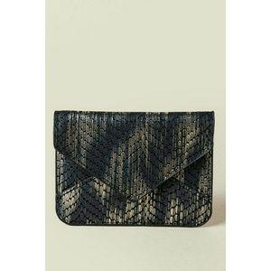 Francesca's Snake Leather  Print Card Case Wallet